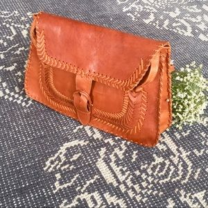 Bags - Vintage Handmade Brown Leather Purse